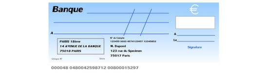 cheque bancaire